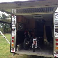 Toy Hauler ramp storage